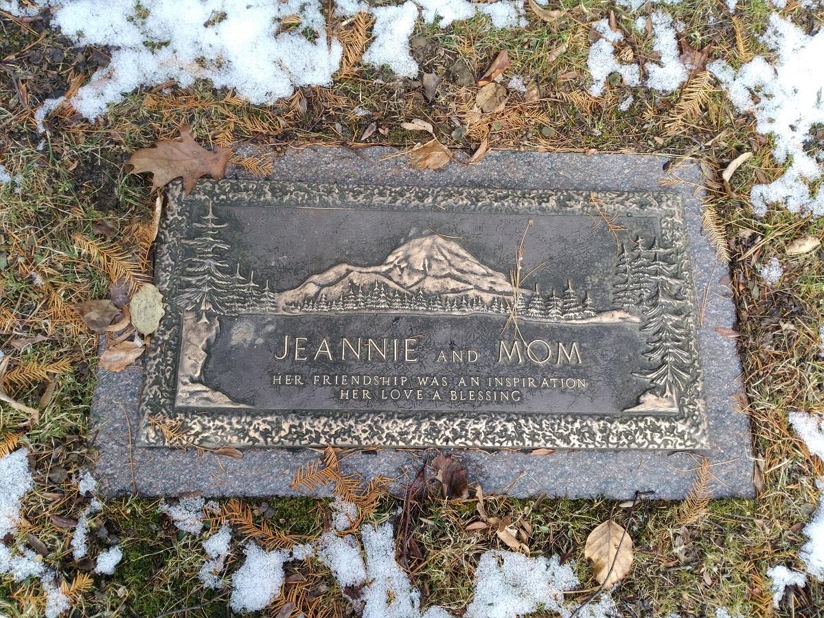 Niagara single grave marker mountain relief