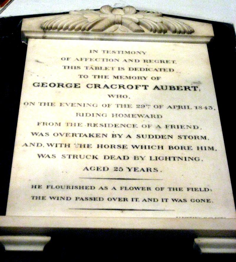 Grabstein von George Cracroft Aubert bei der St. John's Church in Kolkata