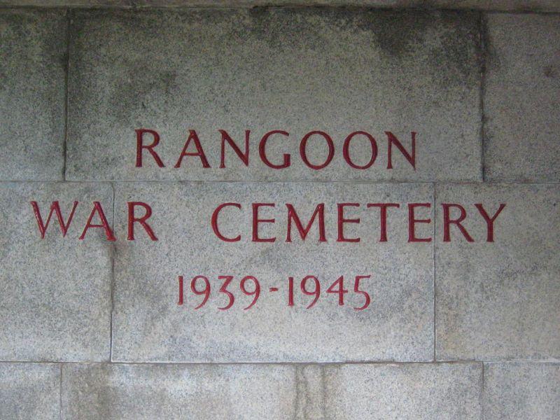 Rangon War Cemetery, Yangon, Myanmar 2016