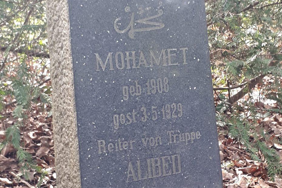 Grabstein von Mohamet Reiter beim Zirkus Sarrasani, Bremen
